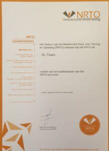 UL-Team kwaliteitskeurmerk NRTO